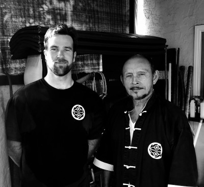 Sifu Nick Wright with Sigung Frank Primicias